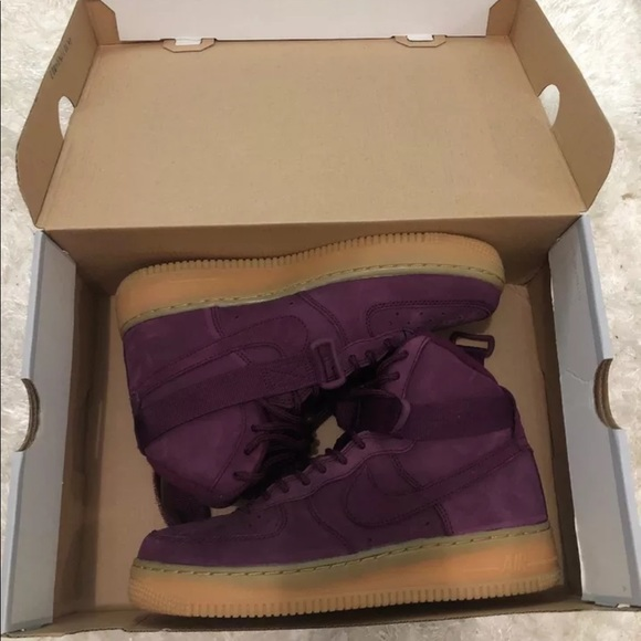 Nike air force 1 high WB GS Bordeaux NWT